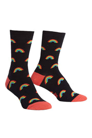 Retro Rainbow Women's Crew Socks