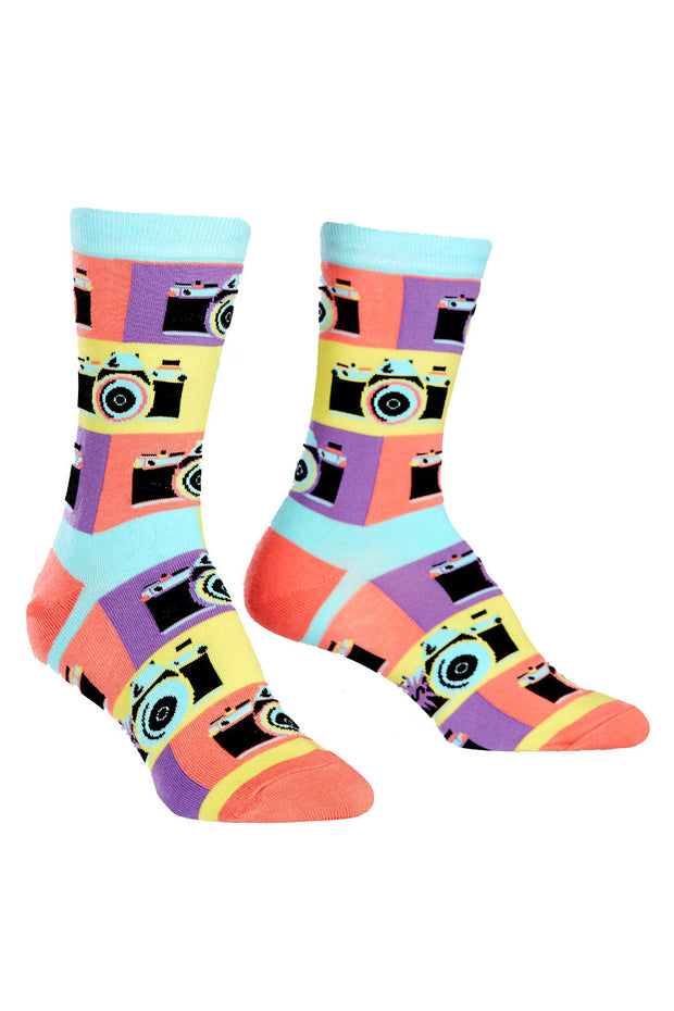 Sock It To Me Crew Socks in Say Cheese online at Moto Est. Australia