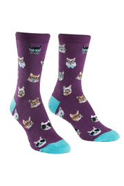 Smarty Cats Women's Crew Socks