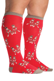 Buy the stretch it knee high socks monkey love online at Moto Est. Australia 3