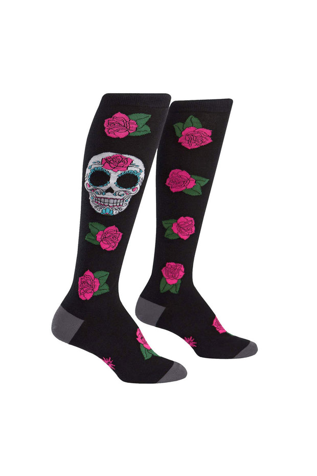 Sock It To Me Knee High Socks in Sugar Skull online at Moto Est. Australia