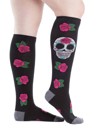 Buy the sock it to me knee high socks sugar skull online at Moto Est. Australia 3