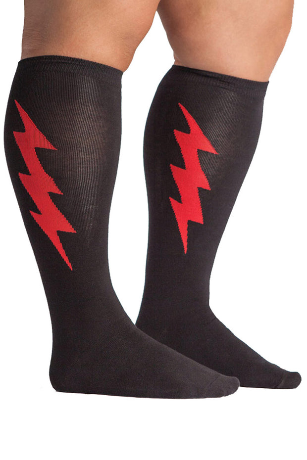 Buy the stretch it knee high socks super hero black online at Moto Est. Australia 3
