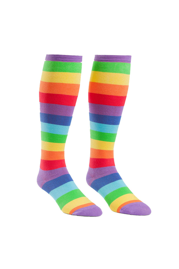 Sock It To Me Stretch-It Knee High Socks in Super Juicy Stripes online at Moto Est. Australia
