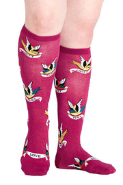Something To Tweet About Women's Knee High Socks
