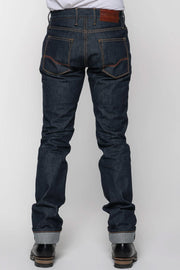 Tobacco Men's Archetype Indigo Selvedge Raw Denim Motorcycle Jeans - Moto Est. 3