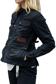 Tobacco Motorwear Company Women's McCoy Motorcycle Jacket in Black online at Moto Est. Australia