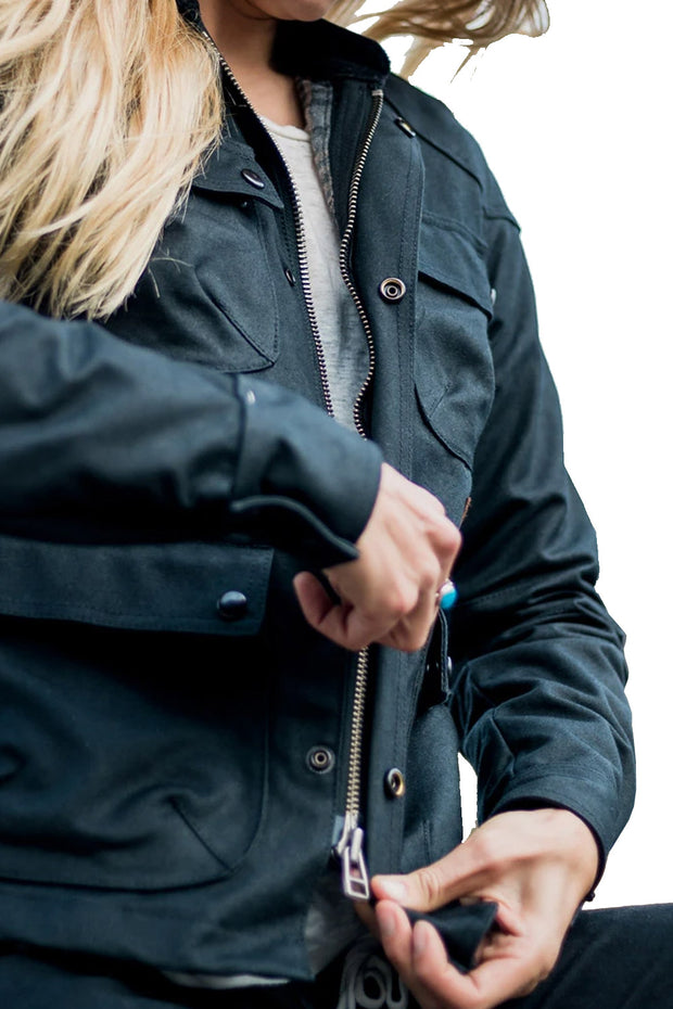 Buy the tobacco womens mccoy jacket black online at Moto Est. Australia