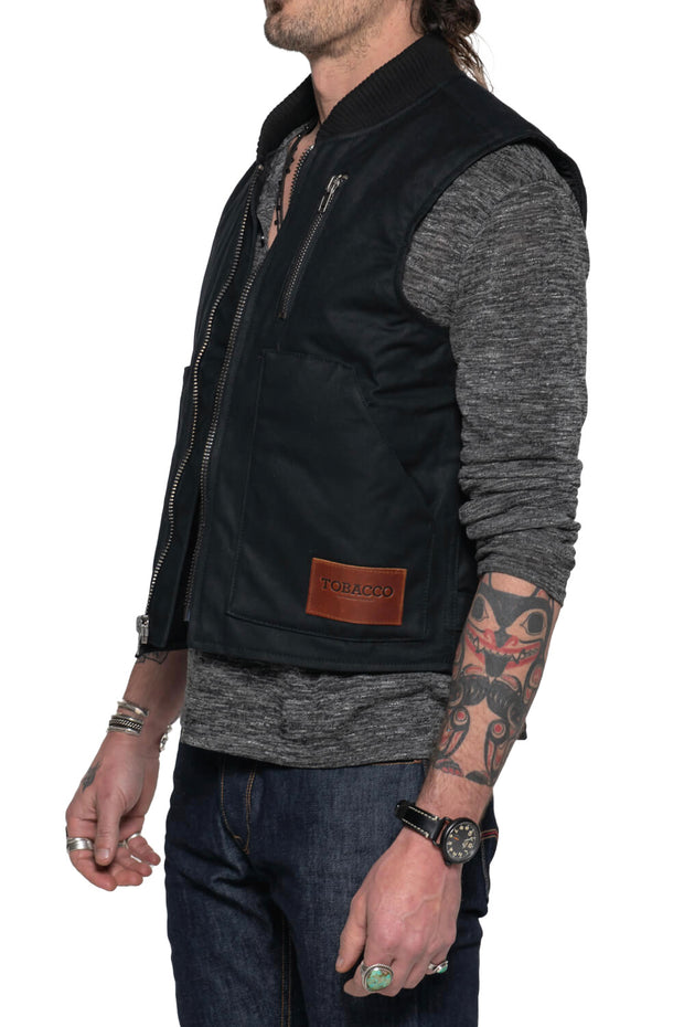 tobacco wasteland motorcycle vest