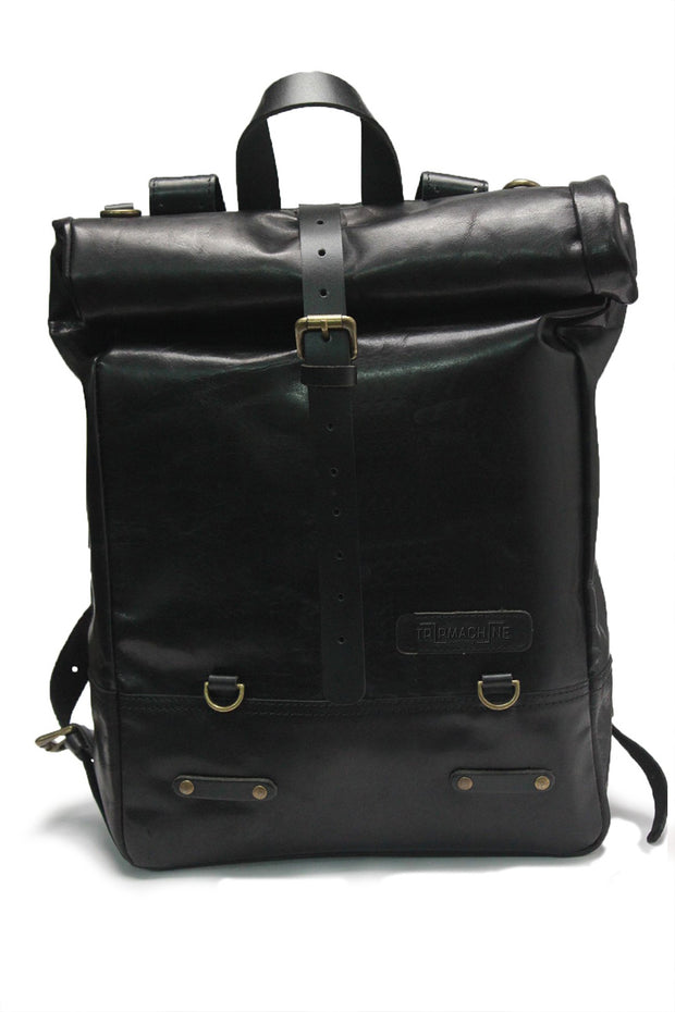 Trip Machine Classic Roll Top Backpack Pannier in Black online at Moto Est. Australia