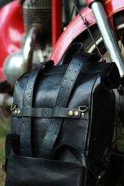 Buy the trip machine classic roll top backpack pannier black online at Moto Est. Australia 3