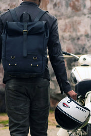 Buy the trip machine classic roll top backpack pannier black online at Moto Est. Australia 5