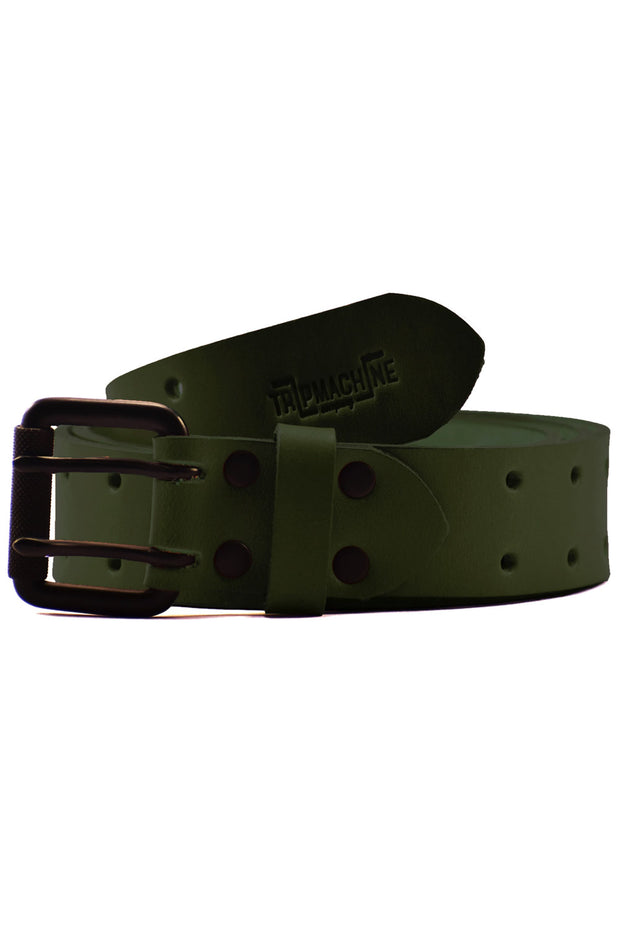 Trip Machine Double Pin Belt in Army Green online at Moto Est. Australia