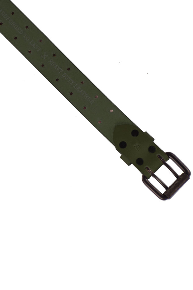 Buy the trip machine double pin belt army green online at Moto Est. Australia 3