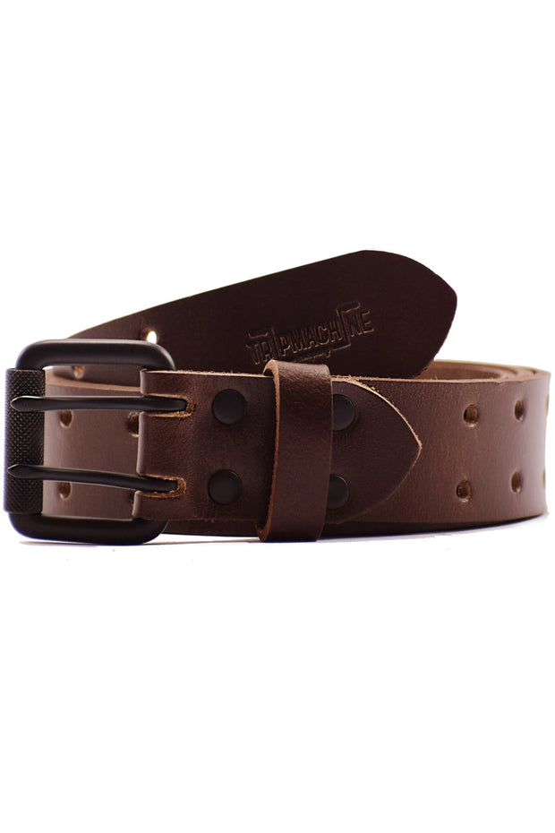 Trip Machine Double Pin Belt in Tobacco online at Moto Est. Australia