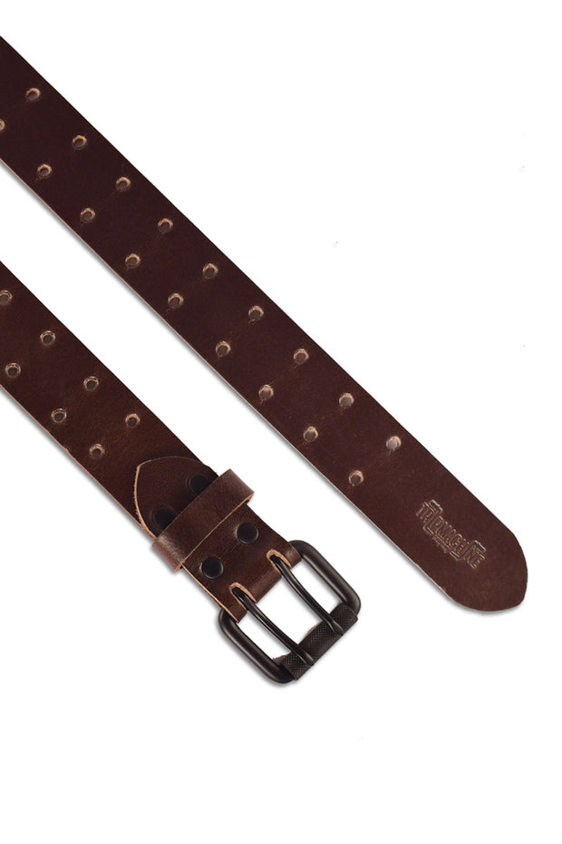 Buy the trip machine double pin belt tobacco online at Moto Est. Australia