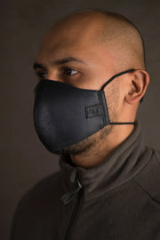 Trip Machine Black Leather Motorcycle Face Mask with filters at Moto Est. Australia 6