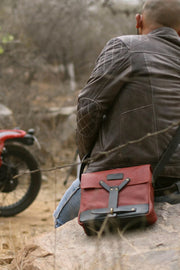 Buy the trip machine messenger bag cherry red online at Moto Est. Australia