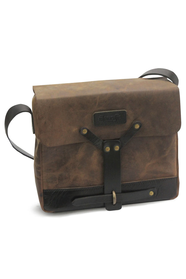 Trip Machine Messenger Bag in Tobacco online at Moto Est. Australia