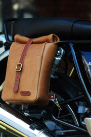 Trip Machine Classic Mini Pannier in Tan online at Moto Est. Australia 1