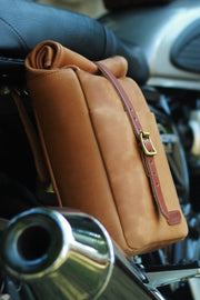 Trip Machine Classic Mini Pannier in Tan online at Moto Est. Australia 2