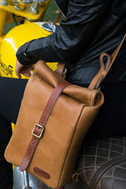 Trip Machine Classic Mini Pannier in Tan online at Moto Est. Australia 3