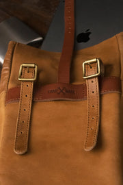 Trip Machine Classic Mini Pannier in Tan online at Moto Est. Australia 4