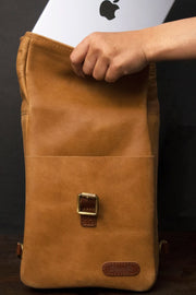 Trip Machine Classic Mini Pannier in Tan online at Moto Est. Australia 5