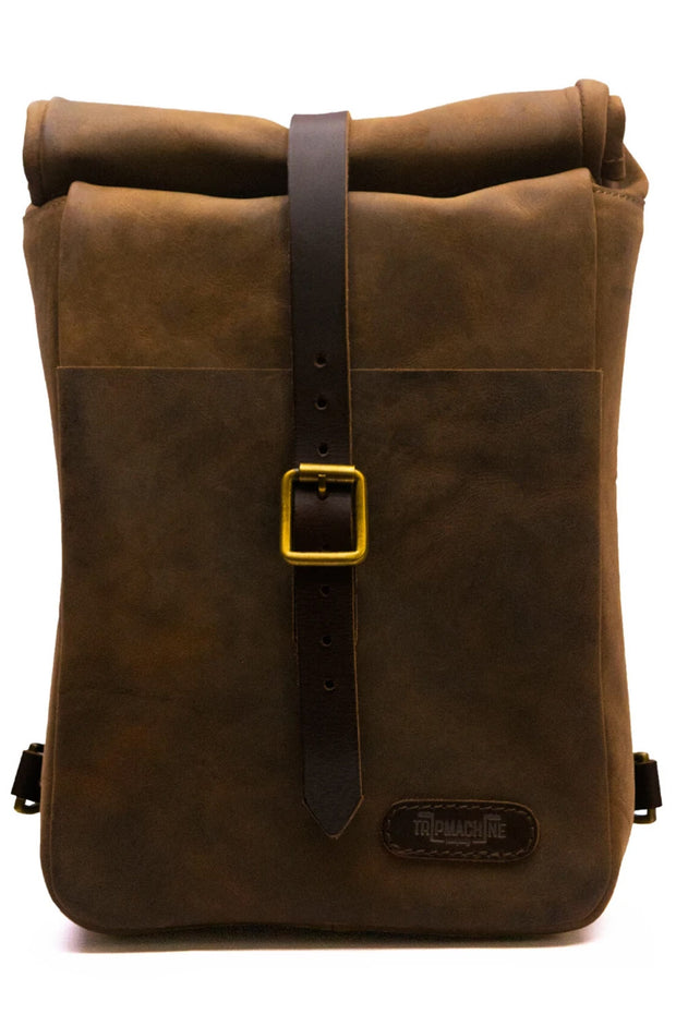 Trip Machine Classic Mini Pannier in Tobacco online at Moto Est. Australia