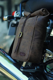 Buy the classic mini pannier tobacco online at Moto Est. Australia 3