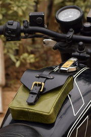 Buy the trip machine tank pouch army green online at Moto Est. Australia