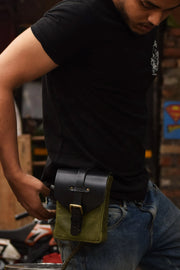 Buy the trip machine tank pouch army green online at Moto Est. Australia 6