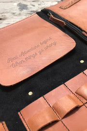 Trip Machine leather tool roll for your motorcycle online at moto est