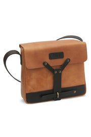 trip machine tan messenger bag
