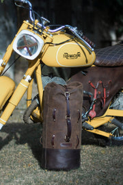 Trip Machine Military Leather Duffle Bag Motorcycle Moto Est. Australia