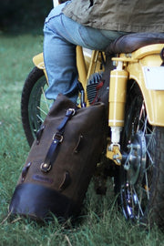 Trip Machine Military Leather Duffle Bag Motorcycle Australia