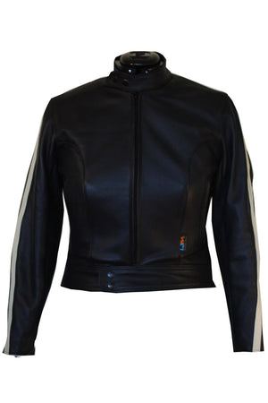 Avanti TT Women's Leather Motorcycle Jacket | Black
