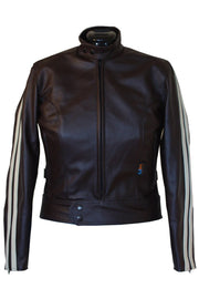 Walden Miller Avanti TT Women's Leather Motorcycle Jacket in Dark Brown online at Moto Est. Australia