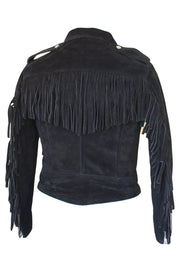 Walden Miller RDO Women's Suede Fringed Motorcycle Jacket in Black online at Moto Est. Australia
