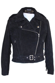 Buy the rdo suede fringed jacket black online at Moto Est. Australia