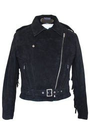 Buy the rdo suede fringed jacket black online at Moto Est. Australia 3