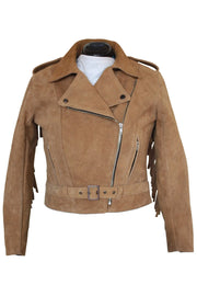 Buy the rdo suede fringed jacket tan online at Moto Est. Australia
