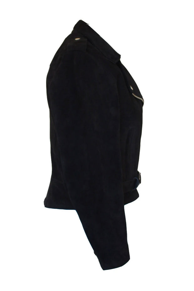 Buy the rdo suede jacket black online at Moto Est. Australia 4