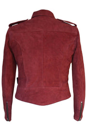 Buy the rdo suede jacket burgundy online at Moto Est. Australia