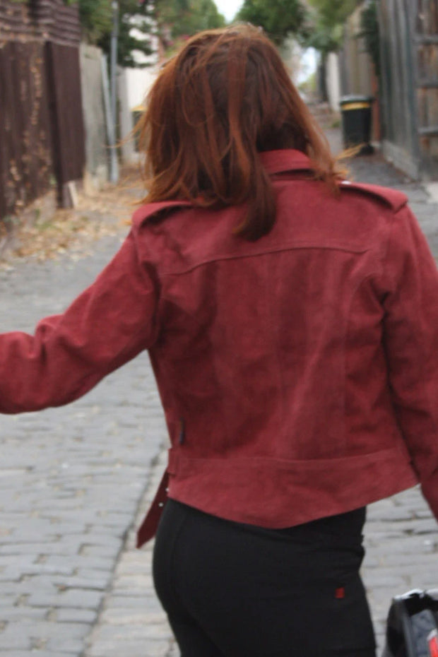 Buy the rdo suede jacket burgundy online at Moto Est. Australia 5