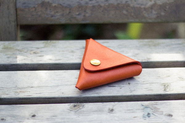 Triangle Leather Coin Case - Image 2