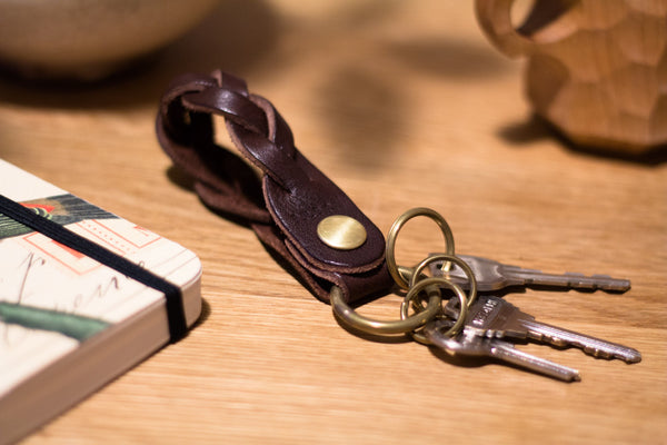 Braided Leather Key Chain 03