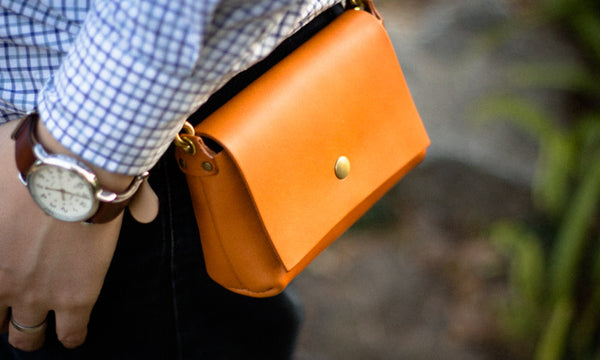 Leather Belt Pouch - Wearing