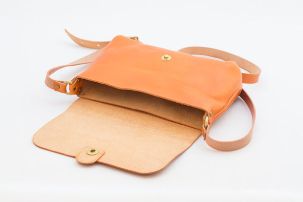 Leather Shoulder Bag - Open