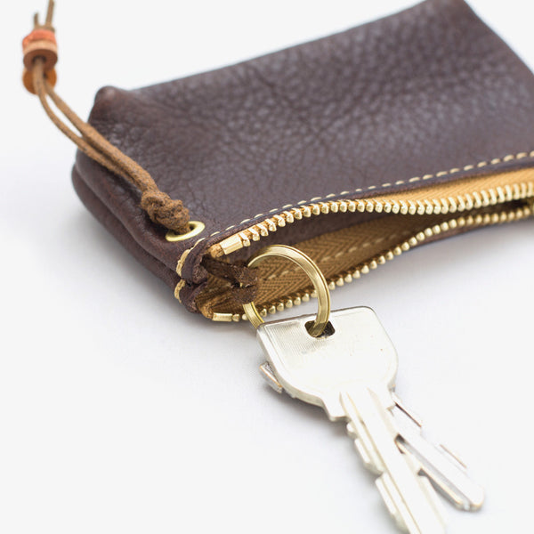Leather Zipper Key Case 01